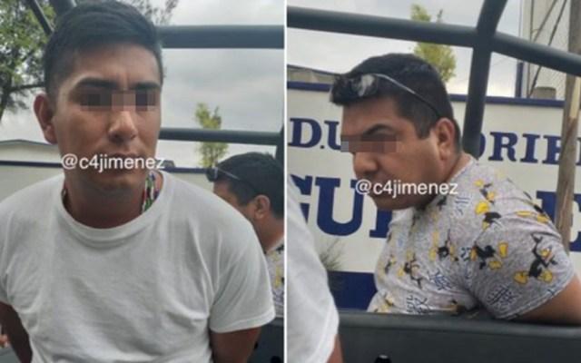 Detienen a policías por agredir a familia de otro agente - Policías detenidos por agresión a familia. Foto de @c4jimenez