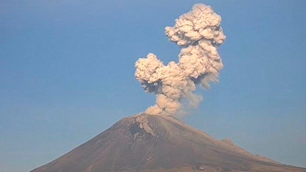 Caída de ceniza del Popocatépetl en cuatro alcaldías de la capital - Popocatépetl explosiones