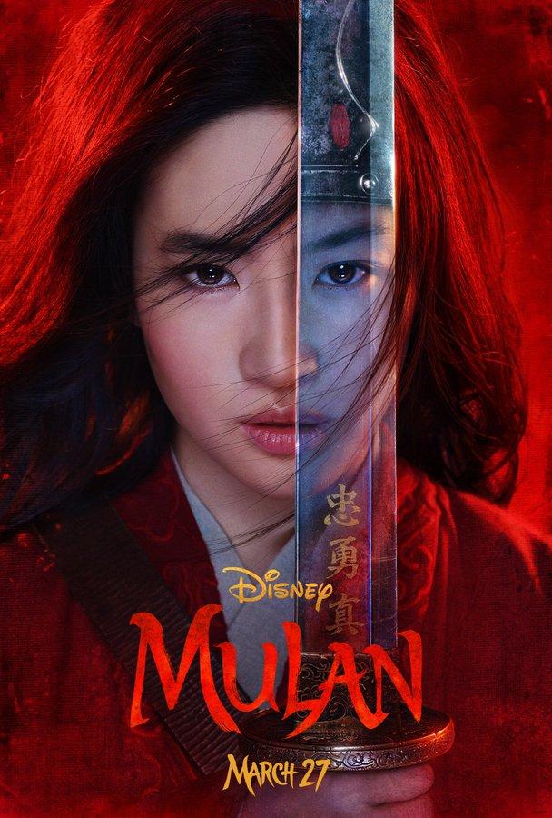 Póster oficial de Mulan. Foto de @DisneyStudios