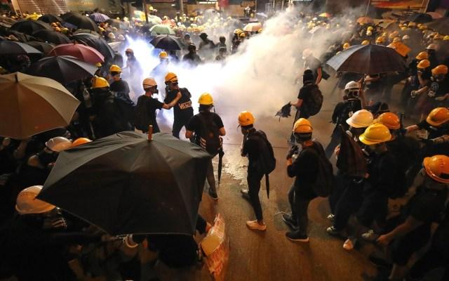 China condena violencia en manifestaciones de Hong Kong - Protestas en Hong Kong del 28 de julio. Foto de EFE