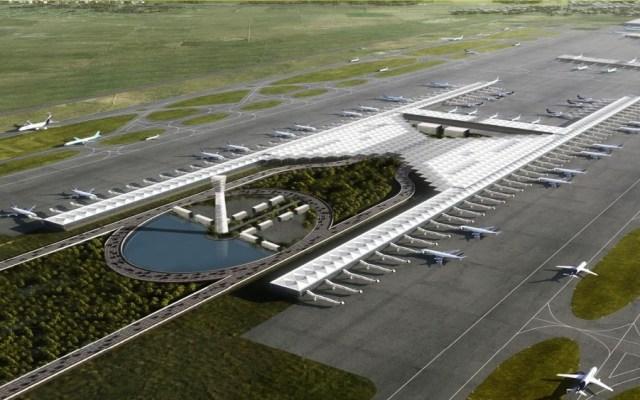 AMLO asegura construcción del aeropuerto de Santa Lucía pese a amparos - Proyección del Aeropuerto de Santa Lucía. Foto del Gobierno de México