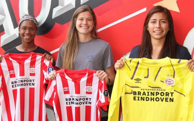 Presentan a Cecilia Santiago con el PSV Eindhoven - Foto de PSV