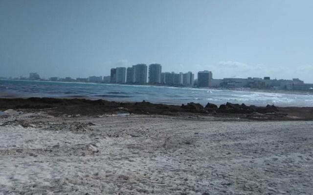 Aumentará llegada de sargazo a Cancún - Foto de Notimex-Nancy Limón.