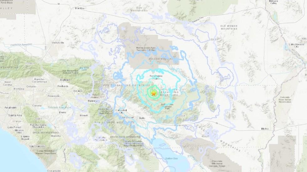 Sismo magnitud 4.2 remece California - Sismo del 22 de julio en California EE.UU. Captura de pantalla / USGS