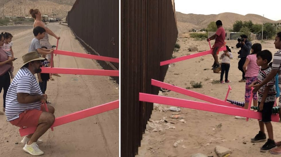 Instalan sube y baja en frontera entre México y Estados Unidos - Sube.y baja frontera México Estados Unidos