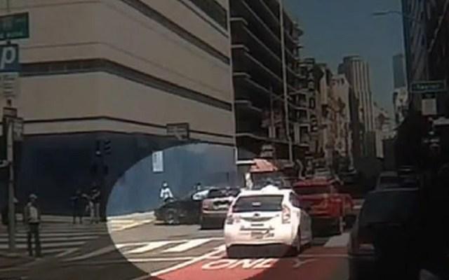 #Video Joven a bordo de Tesla atropella a matrimonio en San Francisco - Tesla antes de atropellar a matrimonio en San Francisco. Foto de ABC7