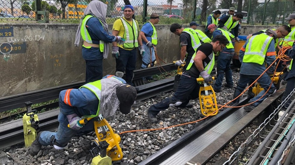 Rechaza CDMX subejercicio en presupuesto destinado a mantenimiento del Metro - Trabajos de mantenimiento a vías de la Línea 3 del Metro. Foto de STC Metro