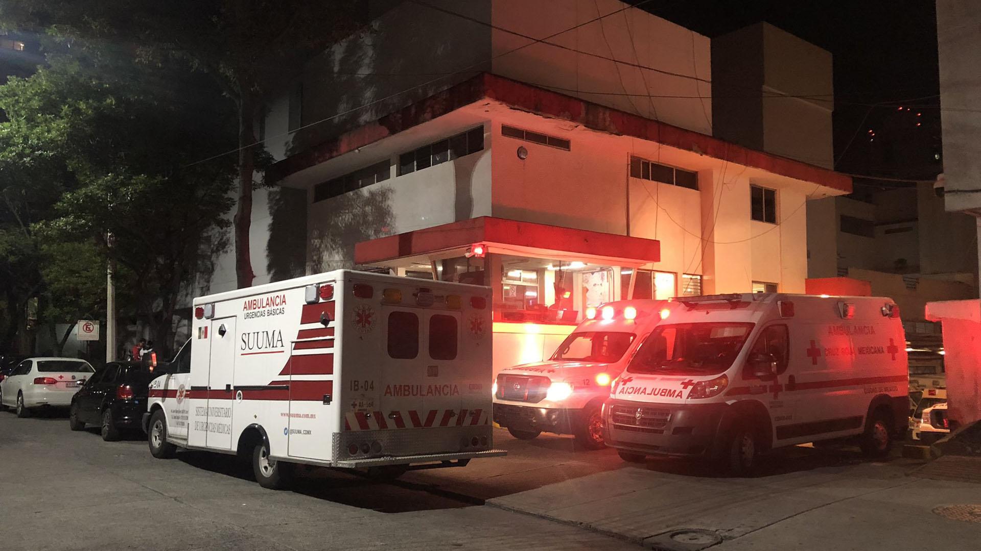 Una ambulancia de SUUMA Voluntarios trasladó al corredor a la Cruz Roja de Polanco. Foto de @SUUMA_CDMX