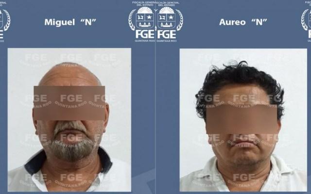 Vinculan a proceso a taxistas por secuestro de dos neoleonenses - Vinculados a proceso por secuestro de dos personas de Nuevo León. Foto de FGE QRoo