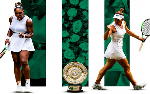Serena Williams y Simona Halep jugarán la final de Wimbledon - williams halep wimbledon