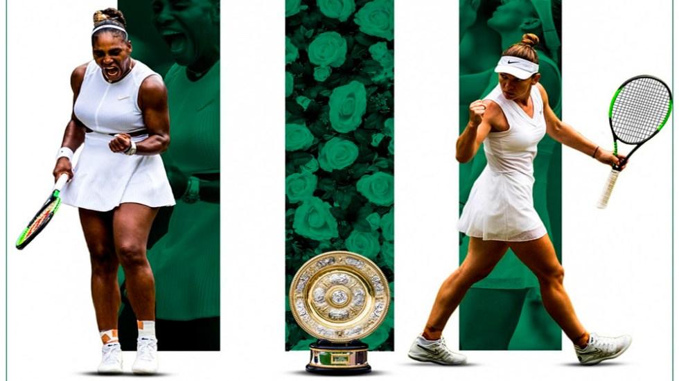 Serena Williams y Simona Halep jugarán la final de Wimbledon - williams halep wimbledon