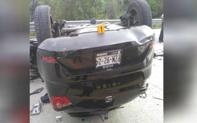Mueren dos en accidente automovilístico en la Autopista del Sol - accidente automovilístico deja dos muertos en la autopista del sol (1)