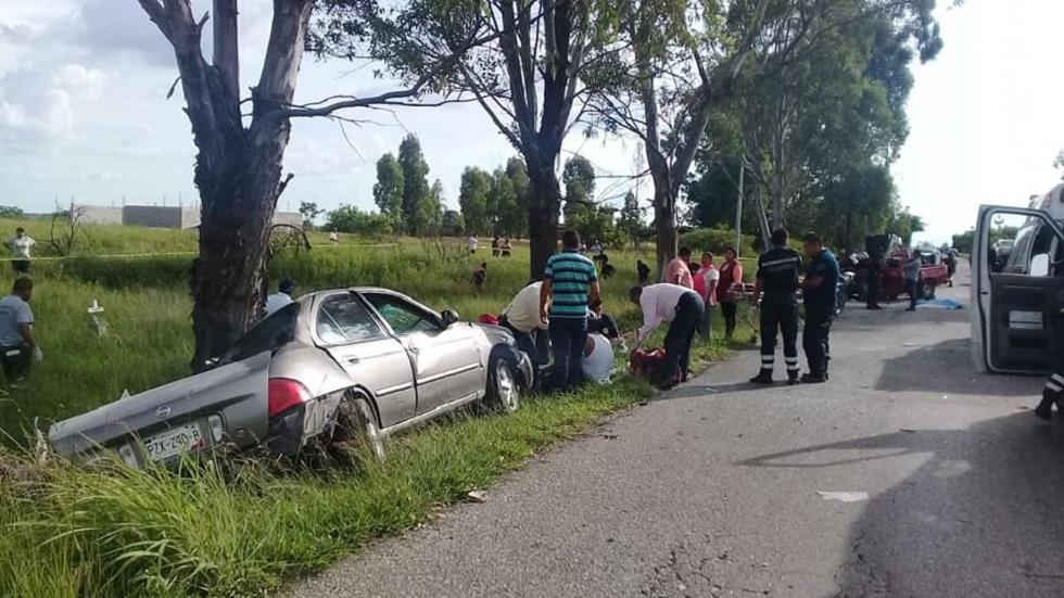 Accidente vial en carretera Yecapixtla-Ocuituco. Foto de @GobiernoEstadodeMorelos
