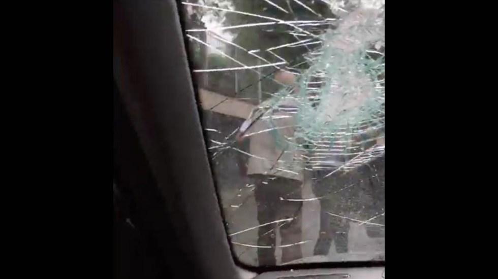 #Video Conductora denuncia agresión tras choque en Tlalpan - Agresión choque golpes Tlalpan