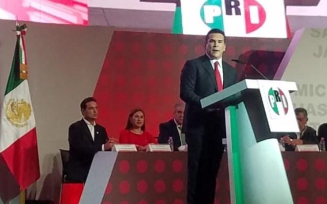 Alejandro Moreno rinde protesta como nuevo dirigente del PRI - Alejandro Moreno y Carolina Viggiano PRI 4