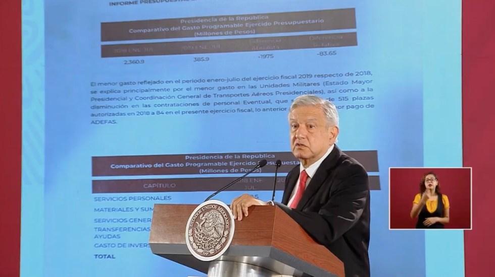 AMLO niega despilfarro en compras de Gobierno; pide que opositores ofrezcan disculpa - Conferencia AMLO 7 de agosto. Captura de pantalla