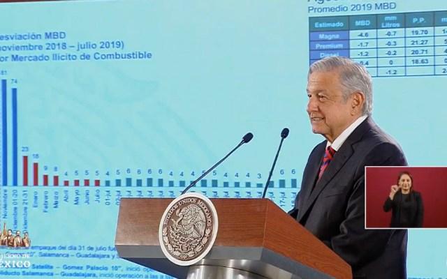 Robo de combustiblese ha reducido 94 por ciento: López Obrador - amlo robo combustible