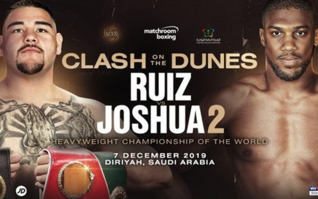 Revancha Andy Ruiz vs Anthony Joshua será el 7 de diciembre - andy ruiz anthony joshua
