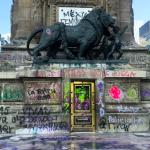 Cierran el Ángel de la Independencia tras marcha feminista; Bellas Artes revisará daños