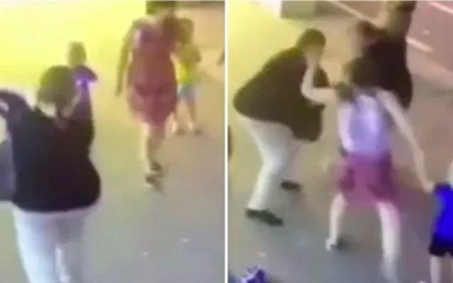 #Video Mujer apuñala a niño de tres años frente a sus padres - mujer ataca