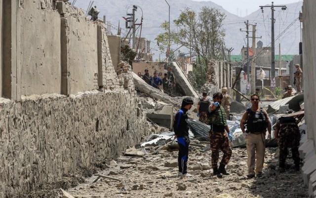 Atentado con coche bomba deja 14 muertos en Kabul - Atentado en Kabul. Foto de EFE
