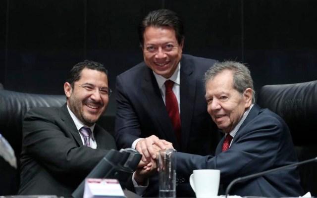 Mario Delgado respalda a Martí Batres - batres delgado muñoz ledo