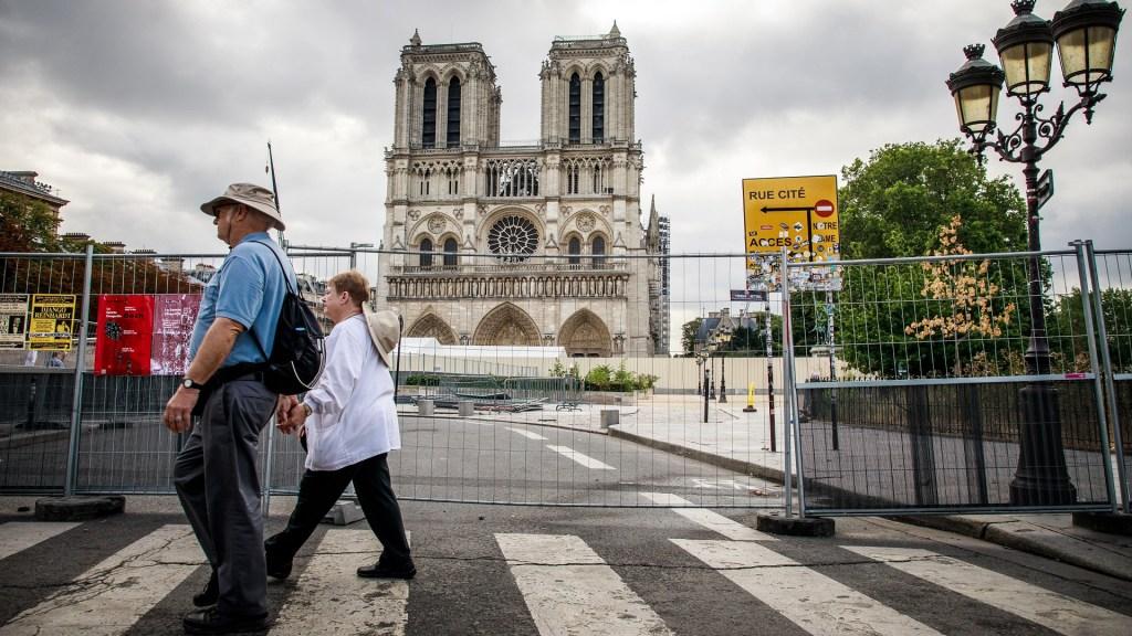 A un año del incendio en Notre-Dame, reconstrucción está parada por COVID-19 - Catedral Notre-Dame. Foto de EFE