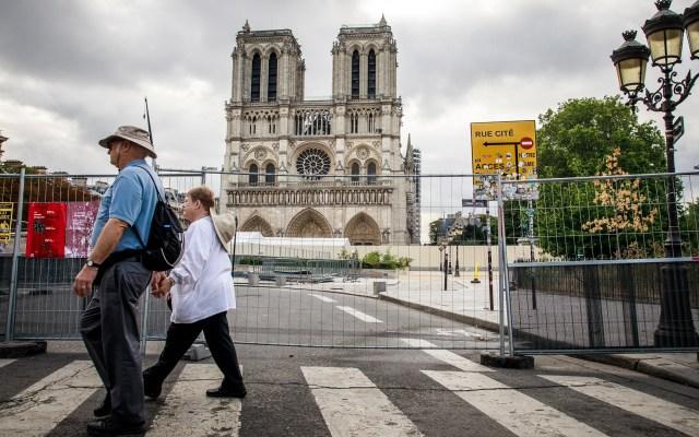 Caída de piedras de Notre-Dame aviva riesgo de hundimiento - Catedral Notre-Dame. Foto de EFE