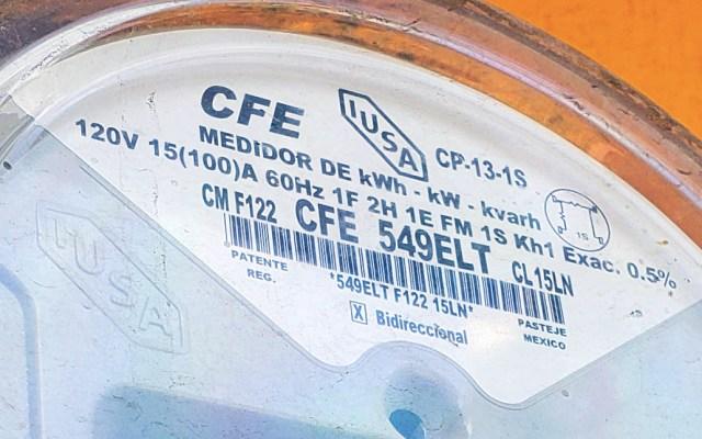 No buscamos estatizar sector eléctrico, sino poner orden: AMLO - CFE medidor Comisión Federal de Electricidad