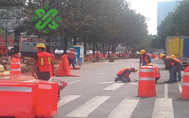 Cierran lateral de avenida Chapultepec por trabajos de rehabilitación - cierre lateral chapultepec