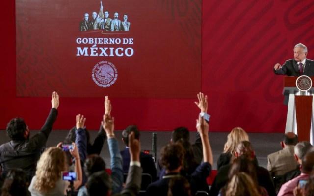 INE declara improcedente cancelar conferencias matutinas de AMLO - Conferencia matutina de AMLO. Foto de lopezobrador.org.mx