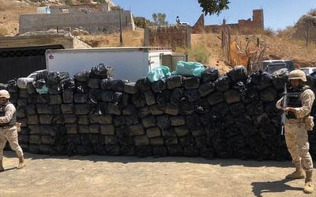 Decomisan casi dos toneladas de mariguana en Tijuana - Foto de Fiscalía Baja California