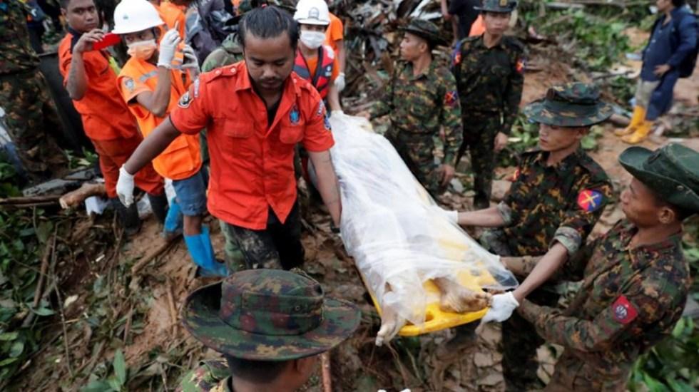 Al menos 33 muertos por deslizamiento de tierra en Myanmar - deslizamiento myanmar