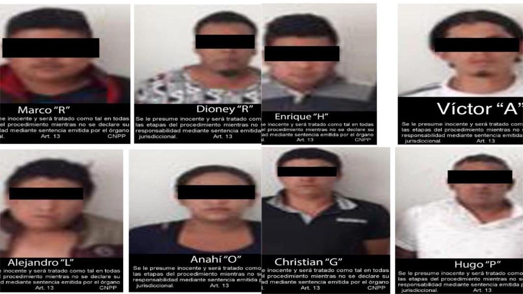 FGR rescata a mujer secuestrada y detiene a ocho en el Edomex - Detenidos por secuestro de mujer en Teoloyucan. Foto de FGR