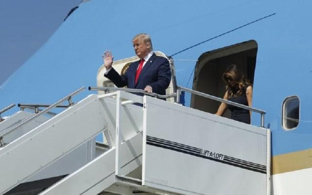 Donald Trump llega a Dayton para reunirse con víctimas de tiroteo - Donald Trump a su llegada a Dayton, Ohio. Foto de Dayton Daily News