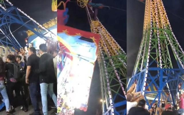 #Video Asistentes evitan colapso de juego mecánico en feria de Durango - Feria Durango colapsa juego mecánico