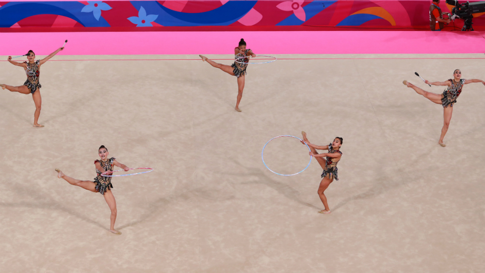 Histórico oro para México en gimnasia rítmica - Foto de Notimex