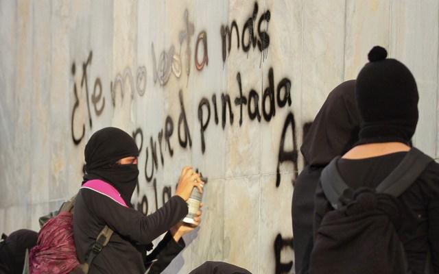 Las manifestaciones de este sábado en la Ciudad de México - Glorieta de Insurgentes feministas