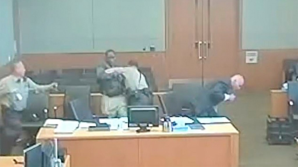 #Video Hombre golpea a su abogado defensor en Arizona - hombre golpea en el rostro a su abogado