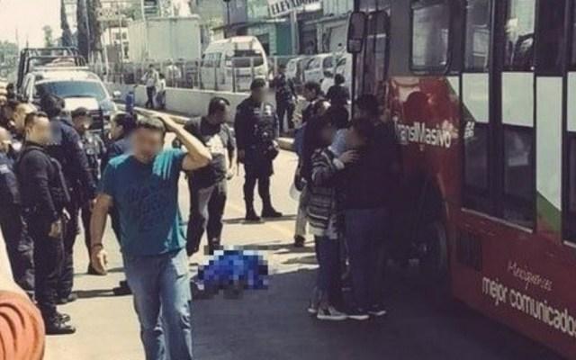 Muere hombre tras ser arrollado por Mexibús en Edomex - Foto de @ElPolloCDMX