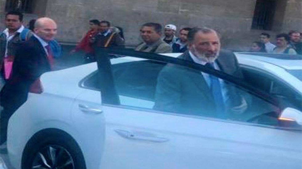 El secretario Herrera admite lo que negó la mañana del martes: sí se reunió con Meade - josé antonio meade palacio nacional