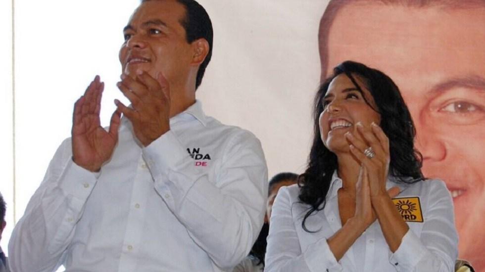 Alejandra Barrales y Juan Zepeda renuncian al PRD - Juan Zepeda y Alejandra Barrales. Foto de @Ale_BarralesM