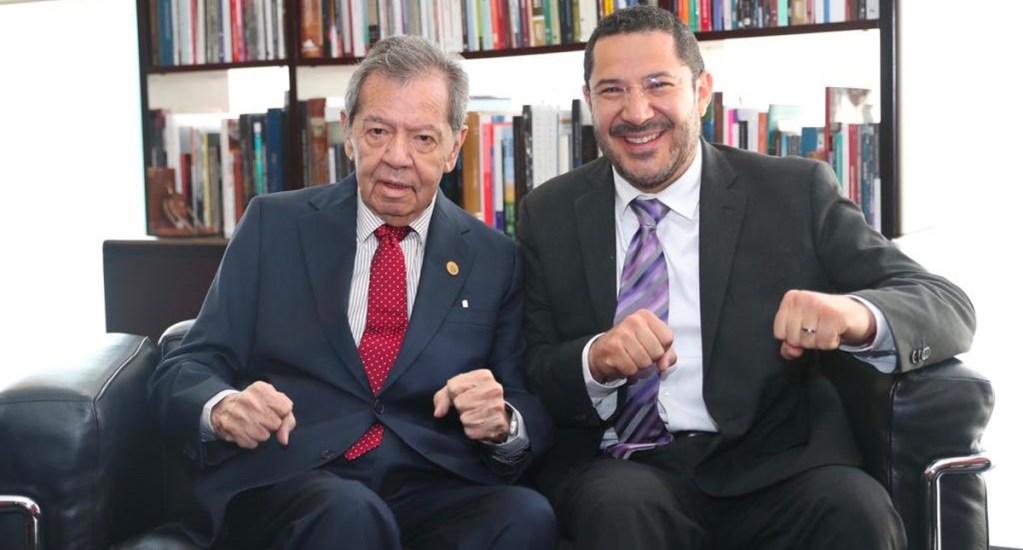 Muñoz Ledo confía en que limen asperezas Batres y Monreal. Noticias en tiempo real