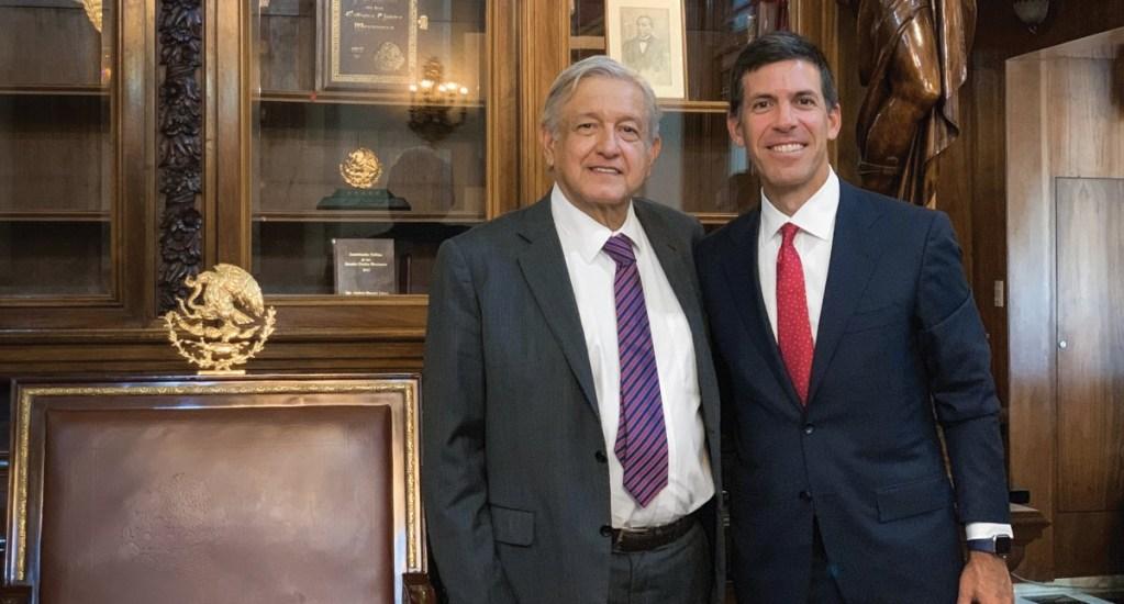 AMLO  se reúne con CEO de Goldman Sach - Foto de Twitter @lopezobrador_