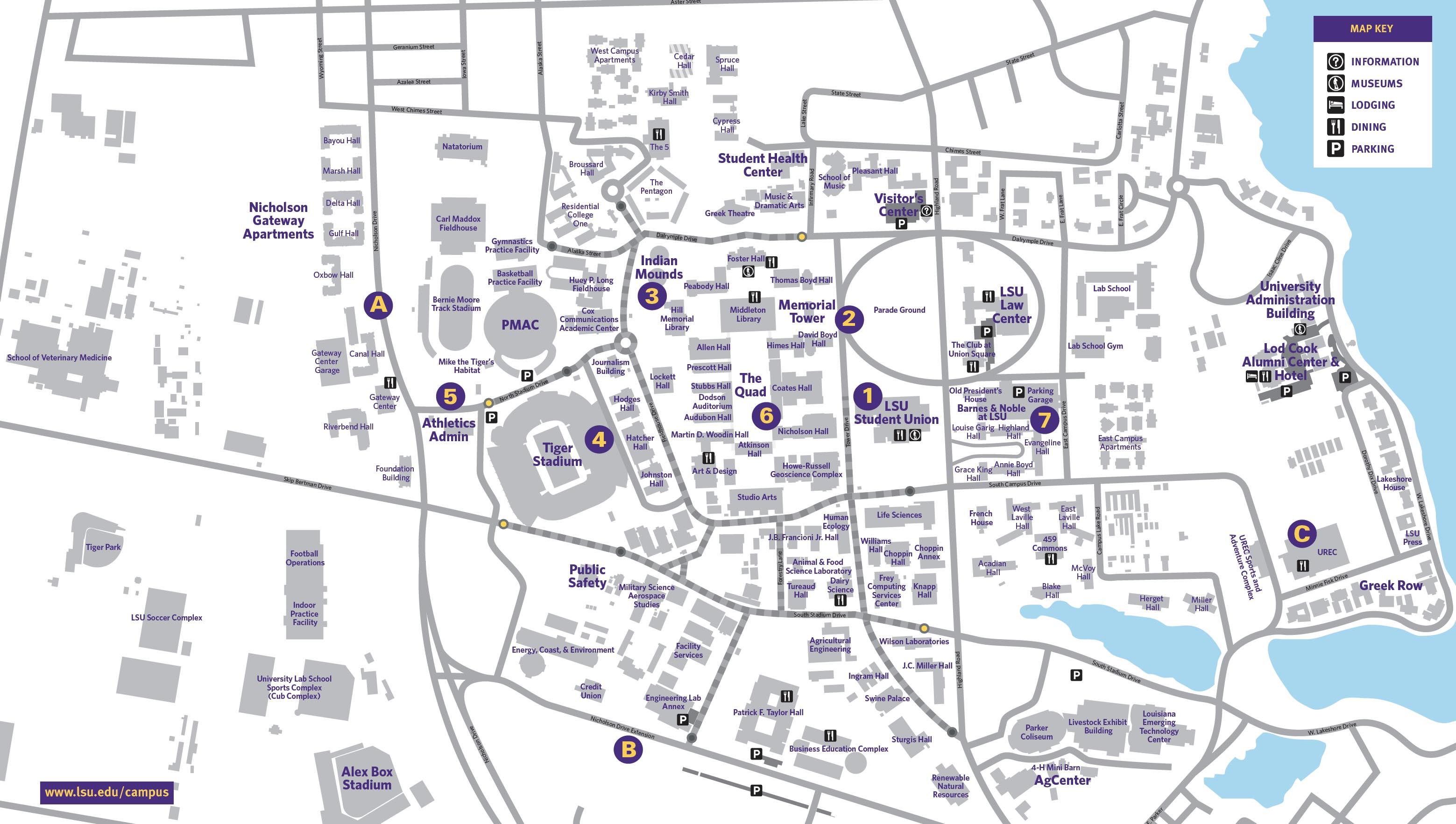 Mapa del LSU