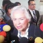 Sánchez Cordero reitera que está firme en el cargo porque tiene la confianza del presidente AMLO
