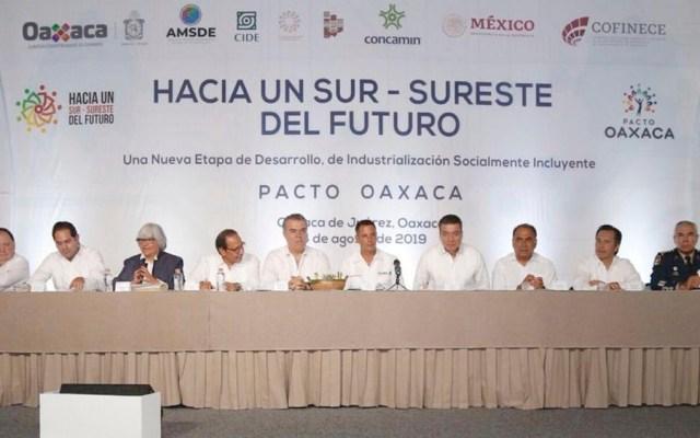 Gobernadores firman el Pacto Oaxaca del Sur-Sureste de México - pacto oaxaca