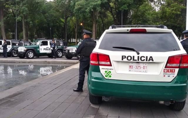Detienen a dos sujetos por intentar robar cable de luz en Ciudad de México - Foto de @SSP_CDMX