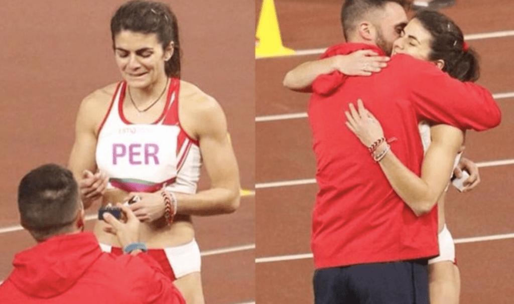 Atleta peruana recibe propuesta de matrimonio en plena pista - Foto de internet