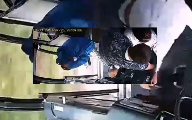 #Video Se roban hasta el estéreo durante asalto a camión de pasajeros - robo a transporte público